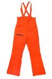 橙色裤子 免版税库存照片