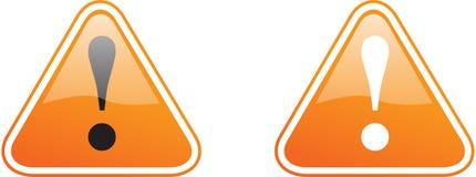 橙色警告 免版税库存图片
