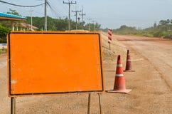 橙色警报信号 免版税库存图片