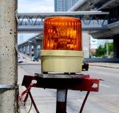 橙色警报器灯 免版税库存图片