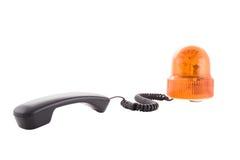 橙色警报器 免版税库存照片
