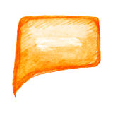 橙色讲话泡影,传染媒介例证 图库摄影