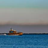 橙色试验船 免版税图库摄影