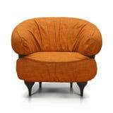 橙色豪华扶手椅子 库存照片