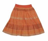 橙色超短裙 库存图片