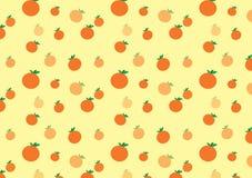 橙色逗人喜爱的样式 库存照片