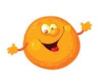 橙色逗人喜爱 图库摄影