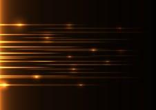 橙色速度激光 库存图片