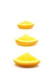 橙色部分 库存图片