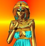 橙色金属埃及女神 免版税库存照片
