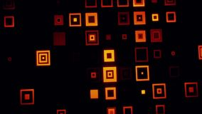 橙色金疯狂的霓虹正方形提取VJ圈背景 库存例证