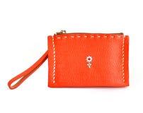 橙色钱包 库存图片