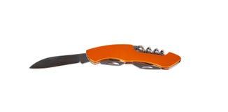 橙色铅笔刀 免版税图库摄影