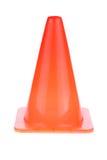 橙色锥体使用了警报信号建设中工作区域 免版税库存照片