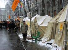 橙色革命在2004_17的Kyiv 库存照片