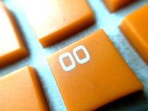 橙色颜色键盘 库存图片