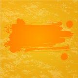 橙色飞溅背景 库存照片