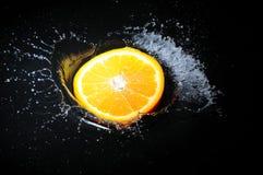 橙色飞溅 库存照片
