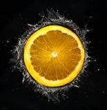 橙色飞溅 免版税库存照片