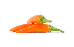 橙色香蕉胡椒 免版税图库摄影