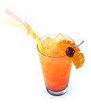 橙色鸡尾酒用樱桃 库存图片