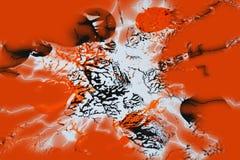 橙色黑灰色油漆contasts,形状,水彩背景 库存照片
