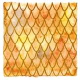 橙色龙皮肤背景 免版税库存照片