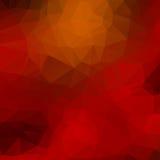 橙色,红色,黑低多背景 免版税库存图片