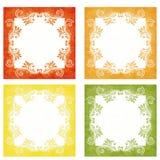 橙色,黄色和绿色典雅的背景 免版税库存图片