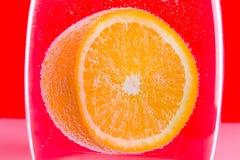 橙色水中 免版税库存照片