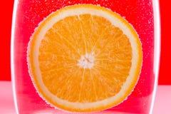 橙色水中 库存图片