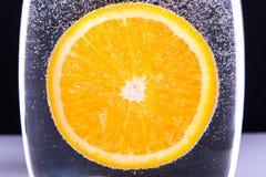 橙色水中 图库摄影