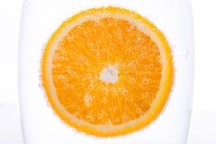 橙色水中 免版税图库摄影