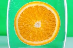橙色水中 库存照片