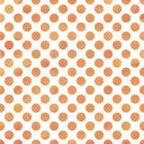 橙色水彩圆点 免版税库存照片