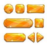 橙色水晶按钮 向量例证