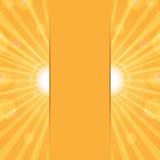 橙色晴朗的背景 库存照片
