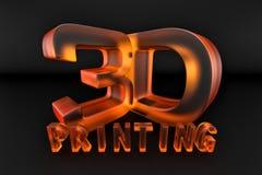 橙色玻璃3d打印 免版税图库摄影