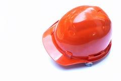 橙色建筑安全盔甲 免版税图库摄影