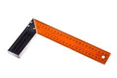 橙色统治者特写镜头照片  免版税图库摄影