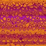 橙色-紫色etno设计 库存图片