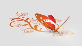 橙色蝴蝶 库存例证