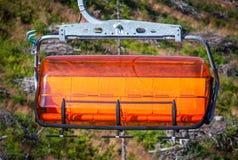 橙色索道在低Tatras,斯洛伐克 库存照片