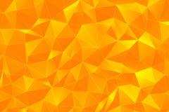 橙色3D多角形表面回报 免版税库存照片