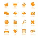 橙色01个的图标 免版税库存图片