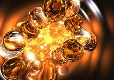 橙色02的泡影 免版税图库摄影