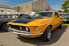 橙色1969年Ford Mustang Shelby 图库摄影