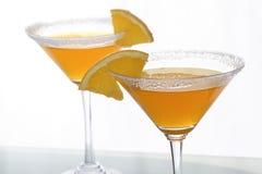 橙色2个柑橘的鸡尾酒 免版税图库摄影