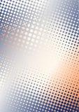 橙色b背景蓝色的小点 库存照片