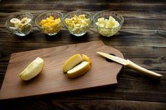 橙色bananna菠萝苹果 免版税库存照片